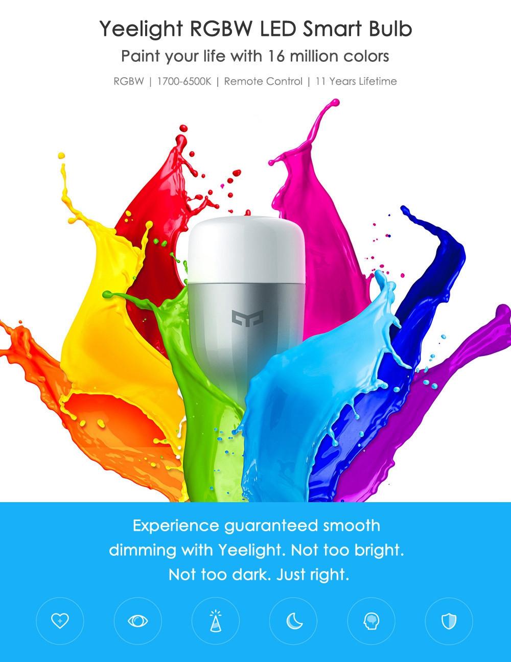 XIAOMI MI YEELIGHT LED - CHYTRÁ led ŽÁROVka osvětlení bluetooth úsporná 9w 6500k bezdrátový super světlo xiaomimarket istage