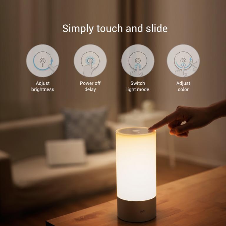 Xiaomi Yeelight Bedside Lamp - Chytrá lampička umí měnit barvy wifi bezdrátové ovládání istage xiaomimarket lampa osvětlení akce
