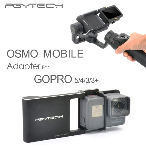 PGY-Gopro-Hero-5-4-3-accessories-Adapter-switch-mount-plate-for-DJI-osmo-mobile-gimbal