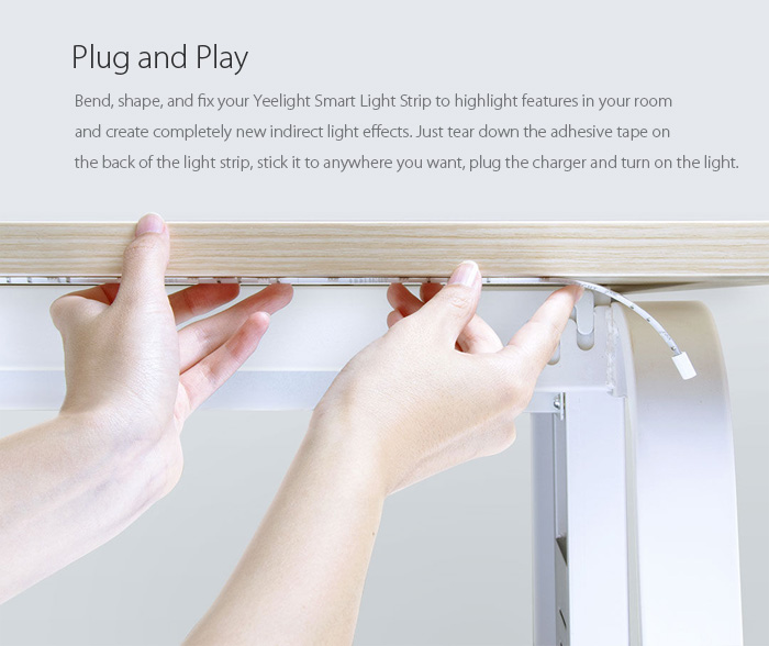Xiaomi Yeelight Strip - Chytrý barevný Led pásek osvětlení nastavitelné mění barvy istage xiaomimarket bezdrátové