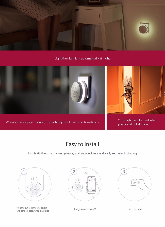 xiaomi smart home gateway alarm chytr br na senzor dve. Black Bedroom Furniture Sets. Home Design Ideas