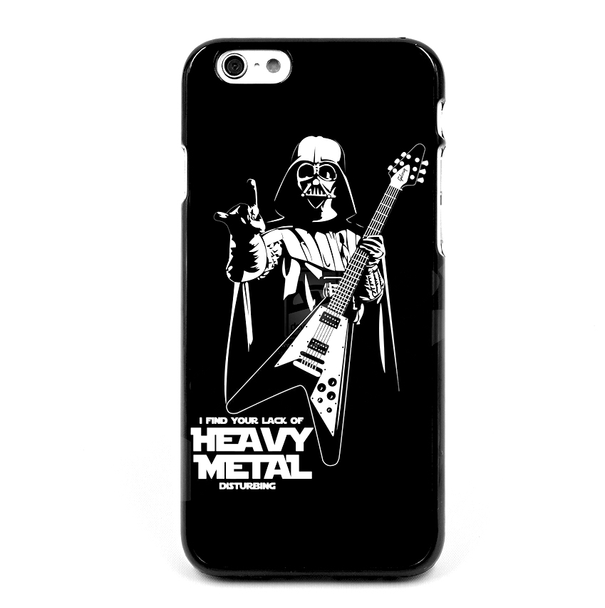 Star-Wars-Darth-Vader-play-Heavy-Metal-fashion-original-Black-Hard-Skin-cell-phone-case-cover